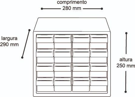 Gaveteiro Organizador Arqplast Com Divisórias 7000