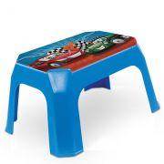Banqueta Infantil Azul Com Label