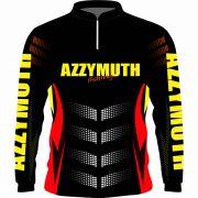 Camisa Pesca Manga Longa Preta Azzymuth Dry Fit