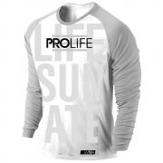 Camiseta Proteção Uv 50 + Masculina Prolife Life Grey