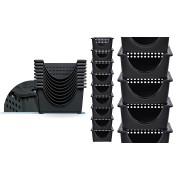 Kit 3 Cesto Organizador P/ Empilhar Ou Colocar Dentro Guarda Tudo