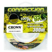 Linha Multifilamento Crown Connection 9x Yellow 300 m