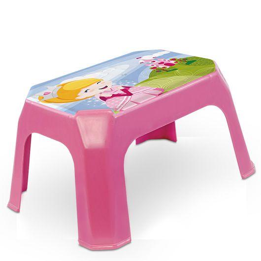 Banqueta Infantil Rosa Com Label