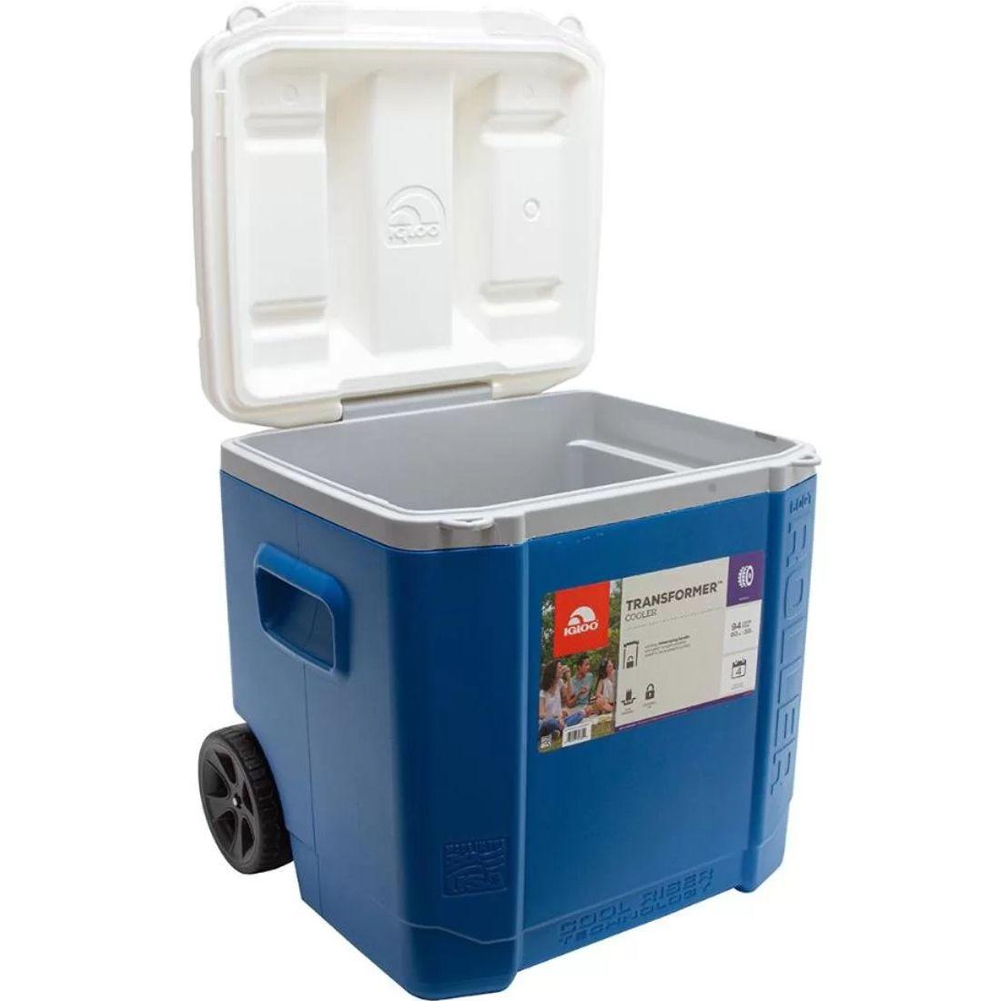 Caixa Térmica Nautika Transformer 60 Qt Roller Igloo Azul