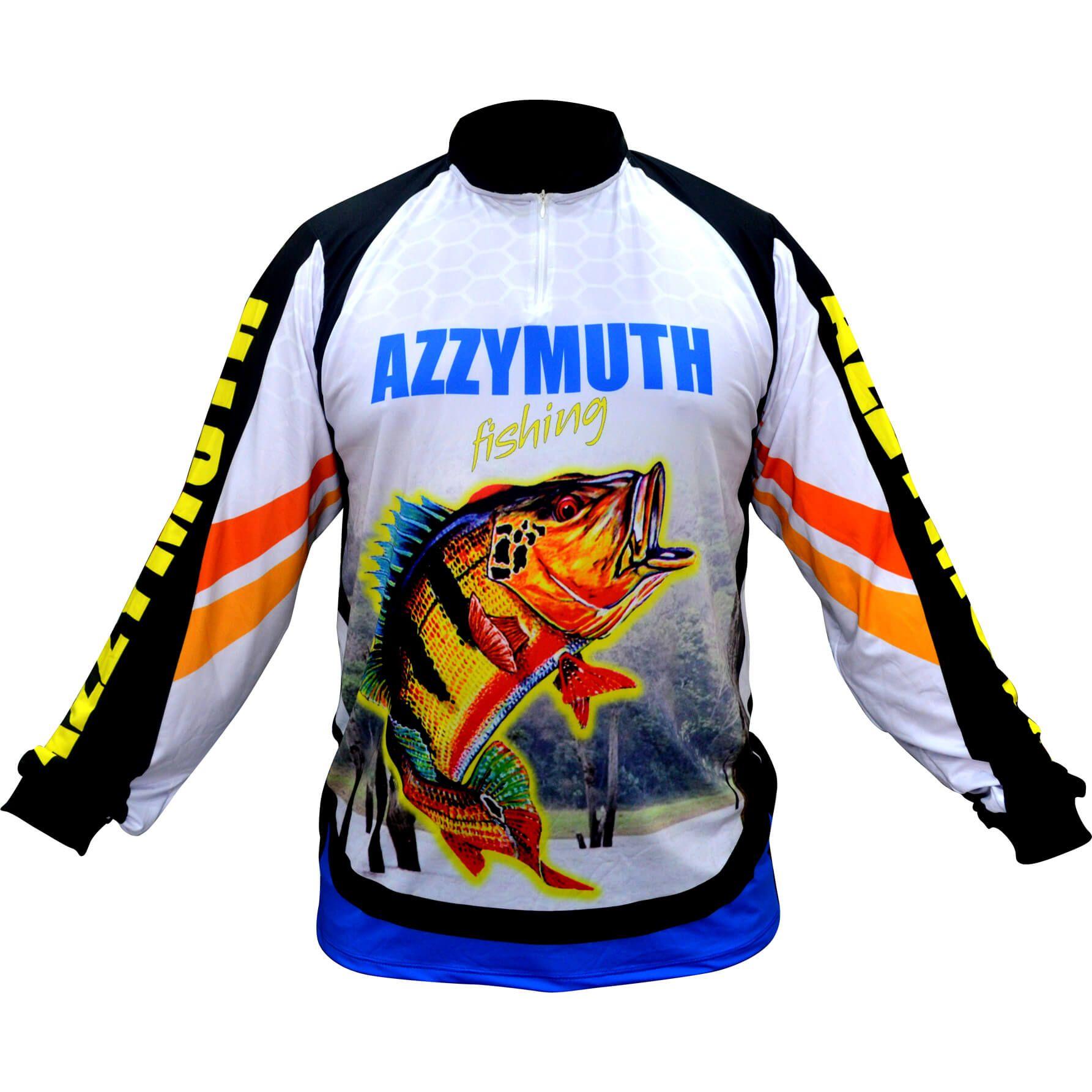 Camiseta De Pesca Dry Fit Uv Azzymuth