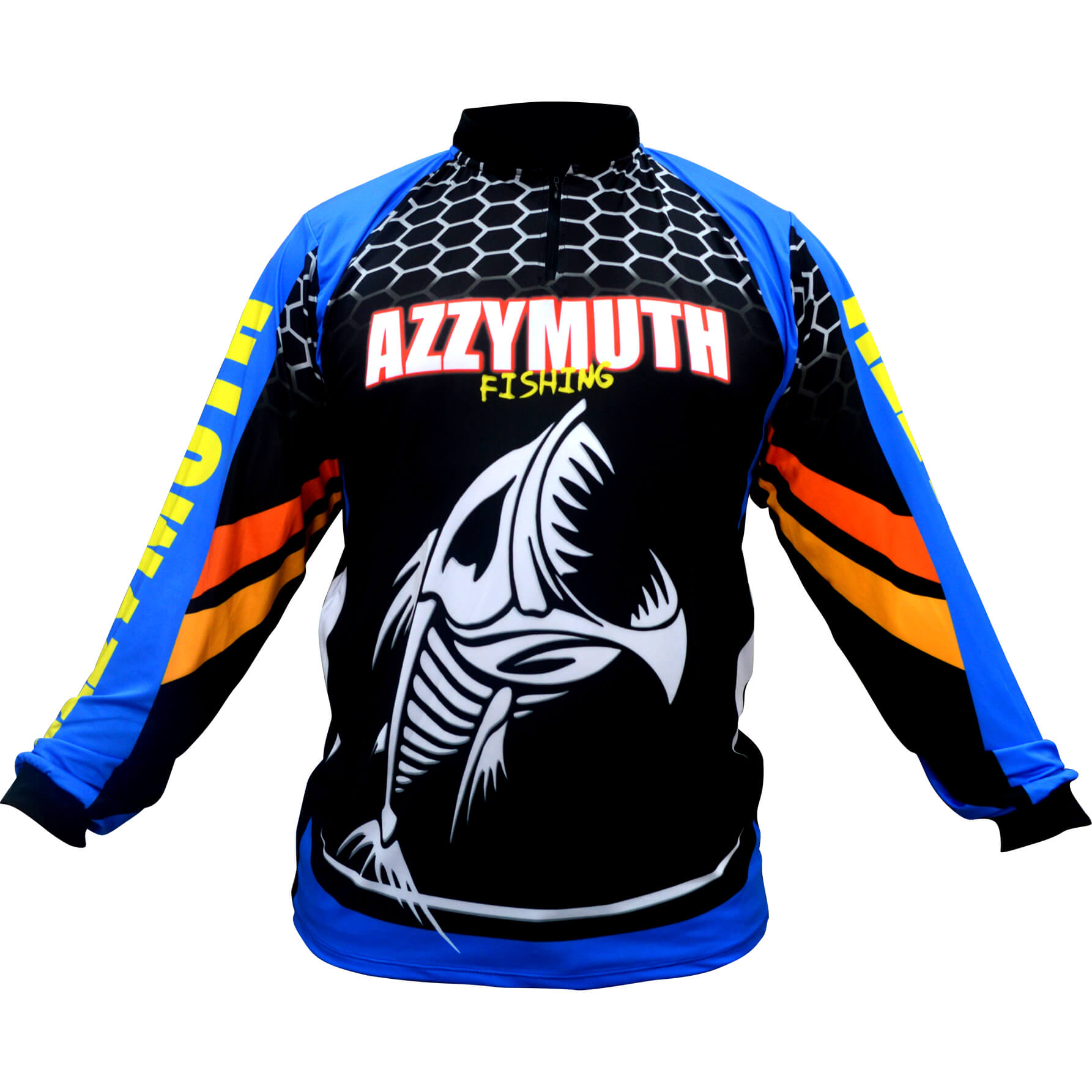 Camiseta Pesca Azzymuth Dry Fit Esqueleto Peixe