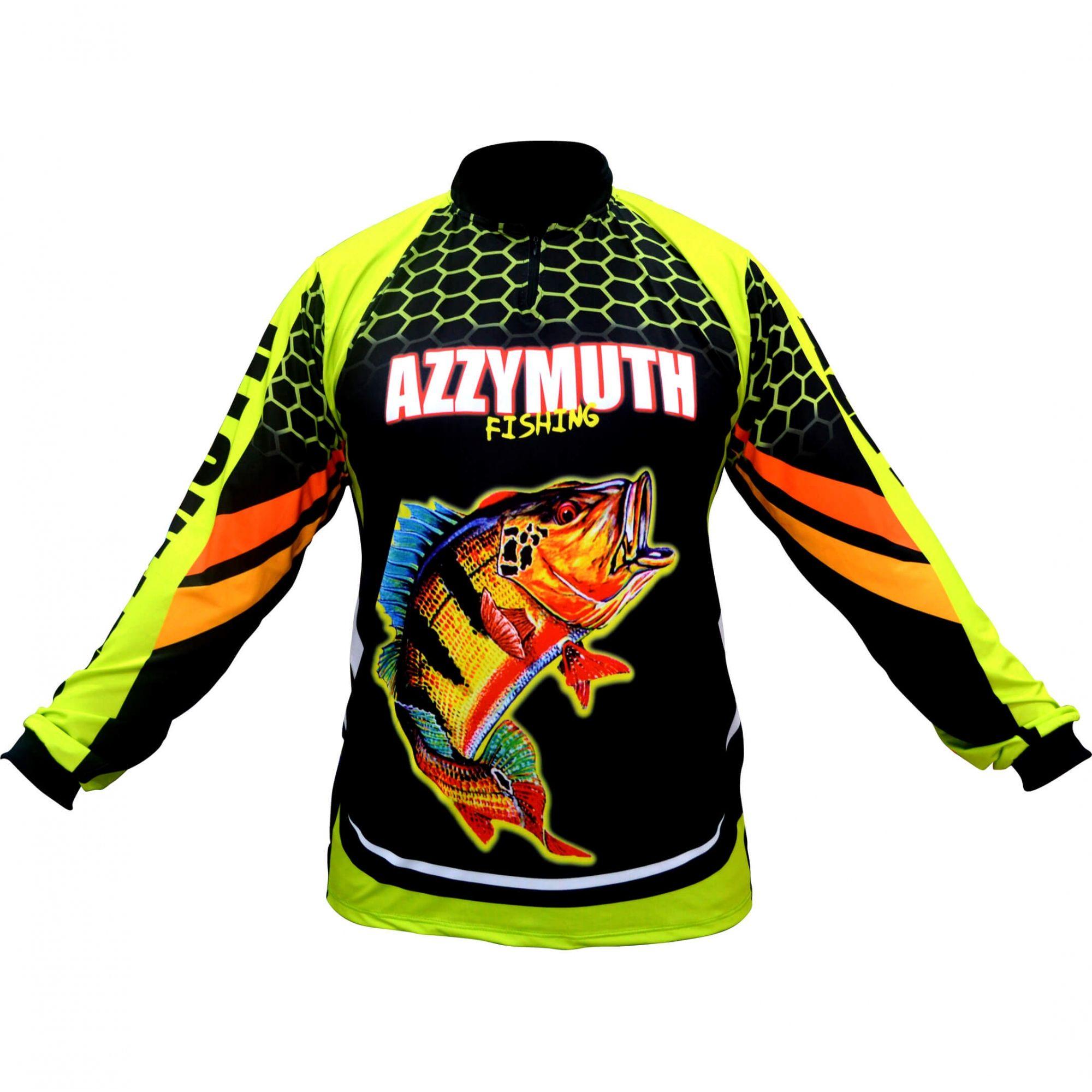 Camiseta Pesca Azzymuth Dry Fit Tucunaré - Verde/preto