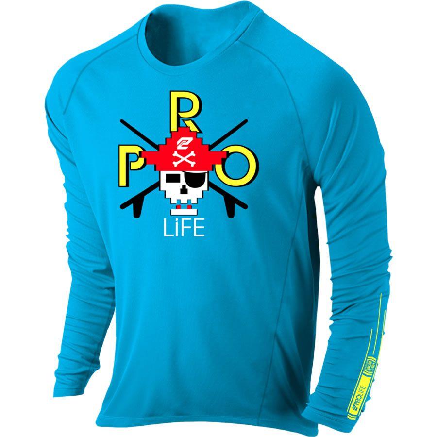 Camiseta Proteção Uv 50 + Infantil Prolife Azul