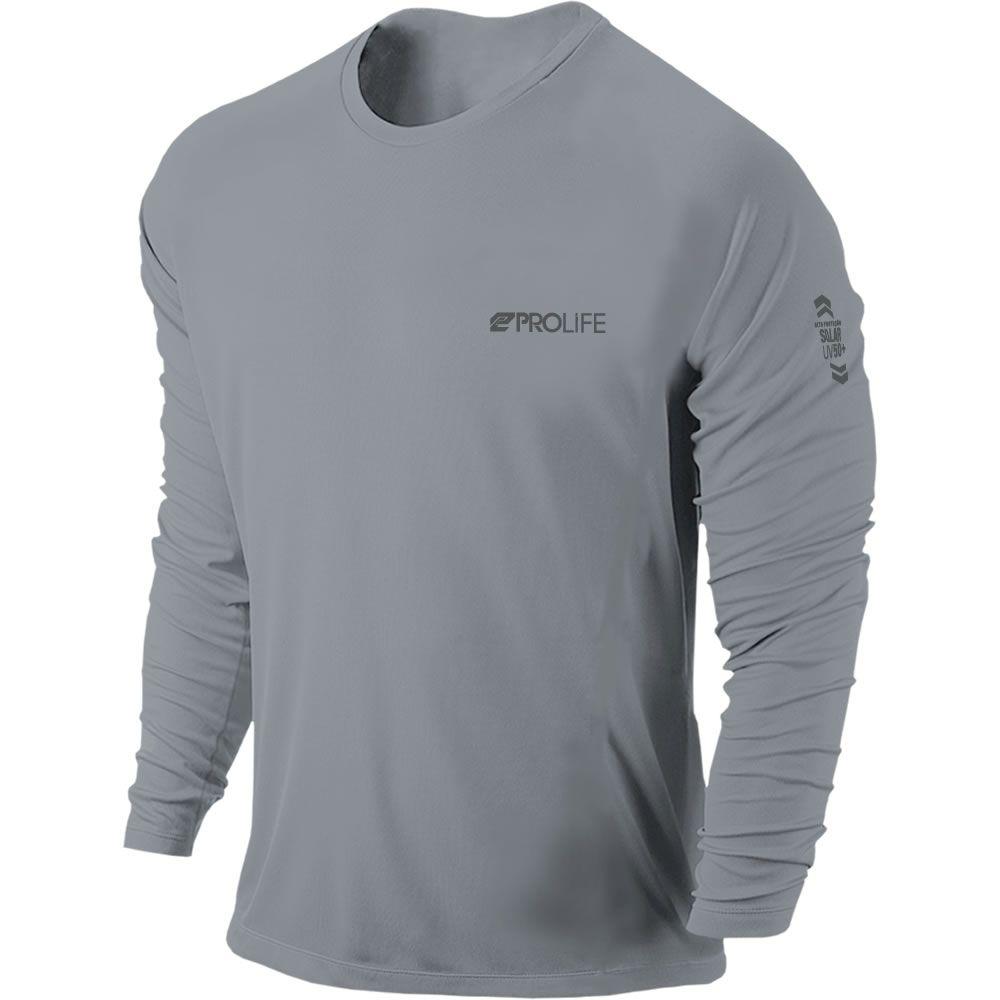 Camiseta Proteção Uv 50 + Masculina Prolife Cinza