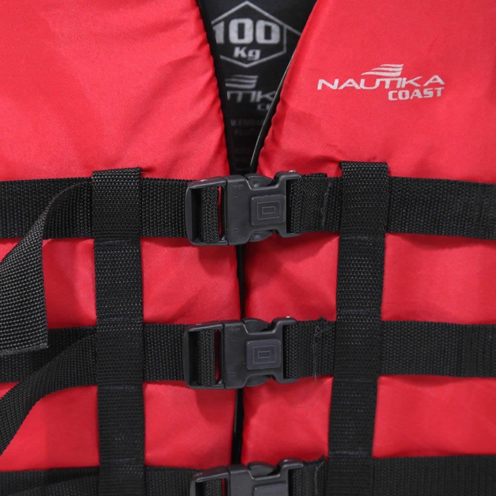 Colete Salva Vidas Coast Nautika 120kg Vermelho