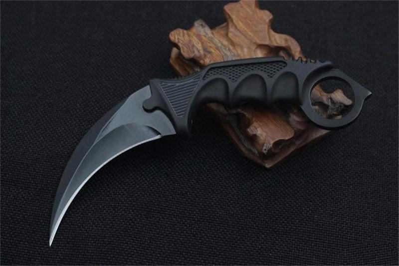 Faca Karambit Cs Go Black Hawk Combate Tática + Bainha Brinde