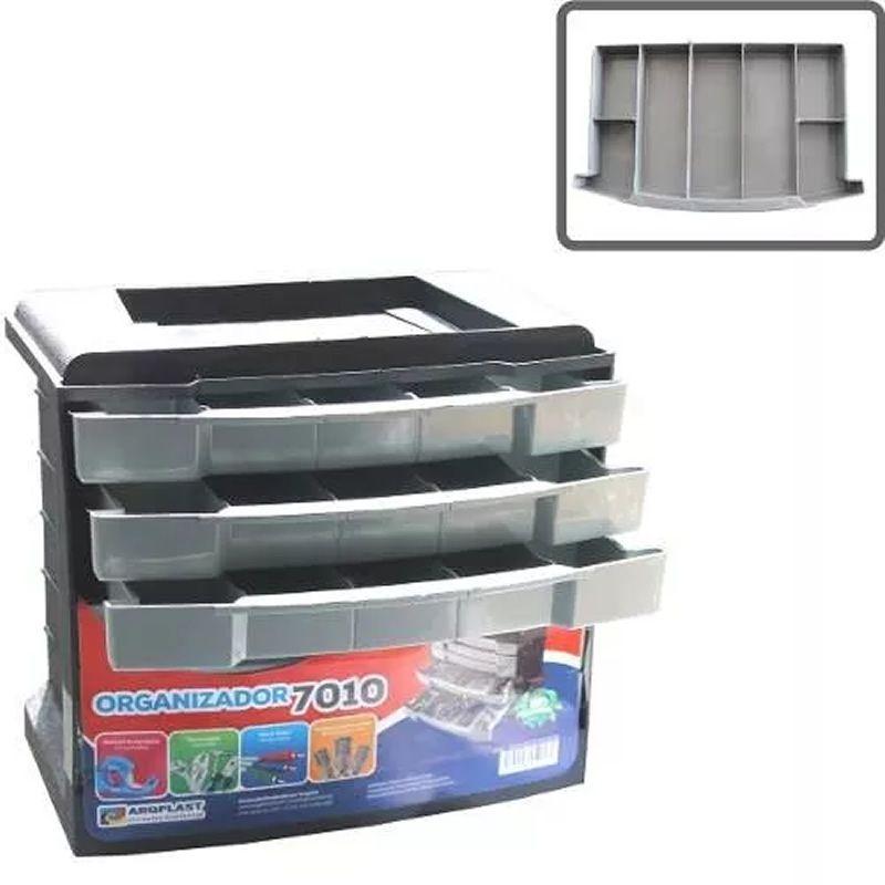 Gaveteiro Caixa Organizadora 7010 6 Gavetas 42 Partições