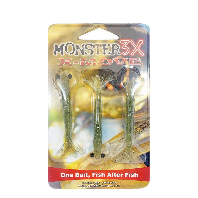 Isca Camarão 9cm Monster 3x X-move Cor: Musgo 007