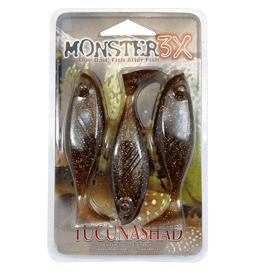 Isca Monster 3x Tucunashad 10 Cm