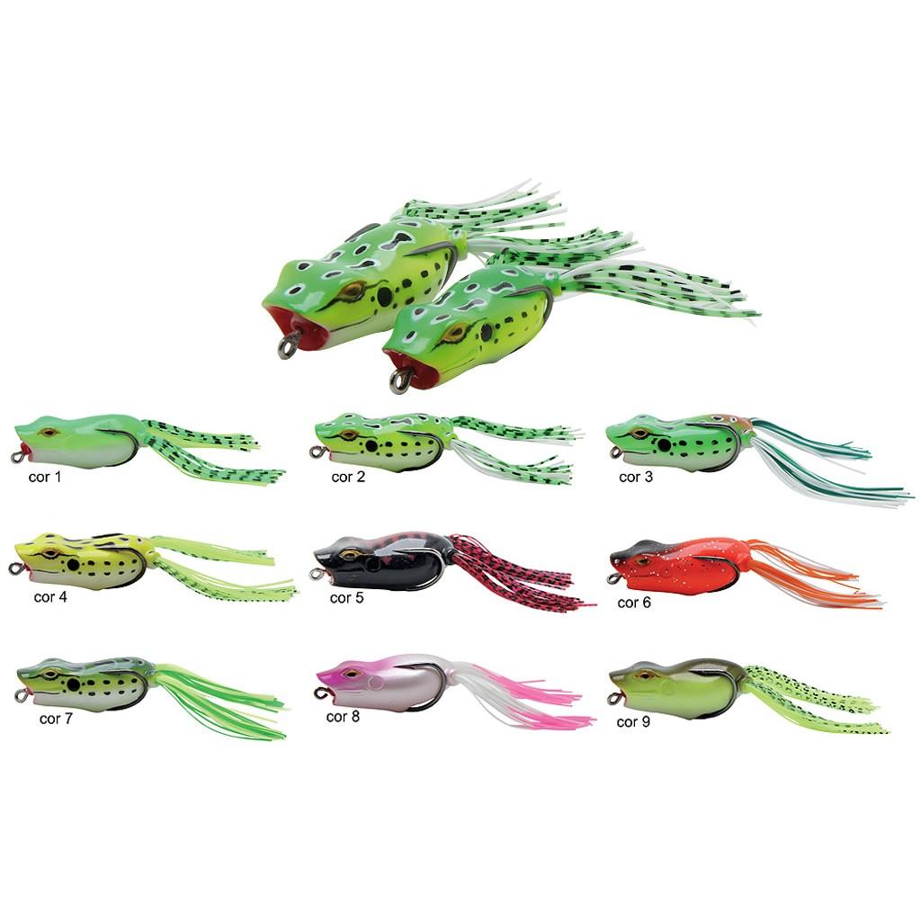 Isca Sapinho P/ Pesca De Traíra Maruri Popper Frog 5,5cm 12g