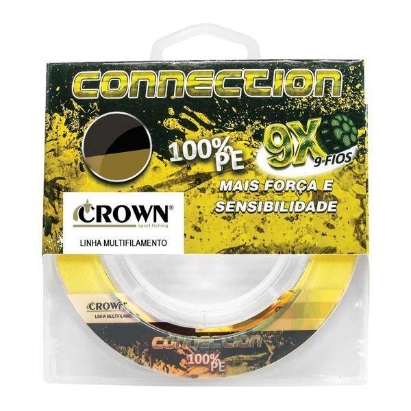 Linha Multifilamento Crown Connection 9x Yellow