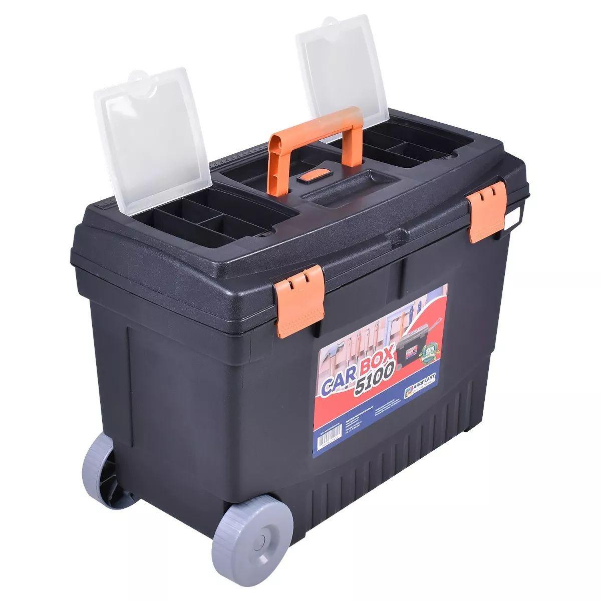 Maleta Caixa Car Box 5100  Com Rodinhas Cinza