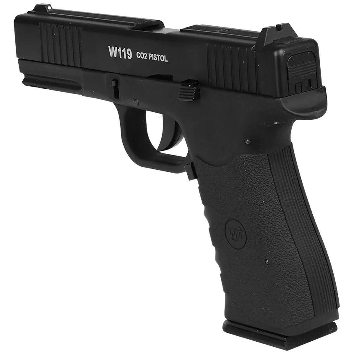 Pistola Airgun Wingun W119 Slide Metal Co2 4.5 Mm Blow Back