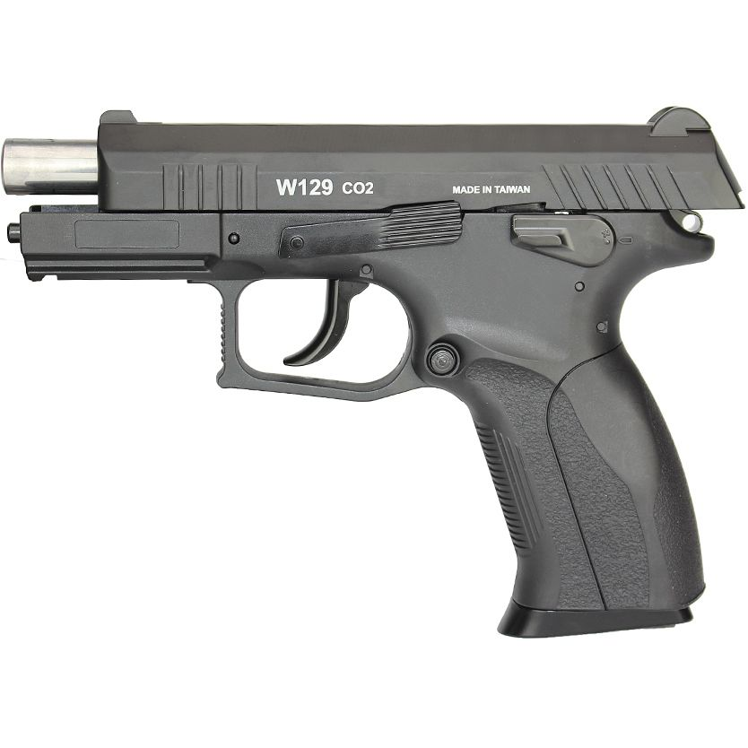 Pistola Airgun Wingun W129 Slide Metal Co2 4.5 mm