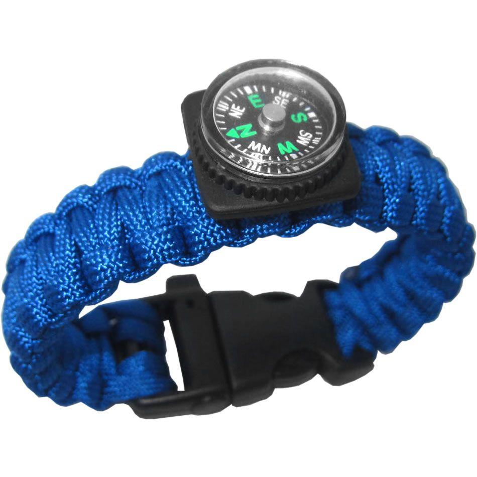 Pulseiras Bracelete Paracord Sobrevivência Apito Bussola C/2