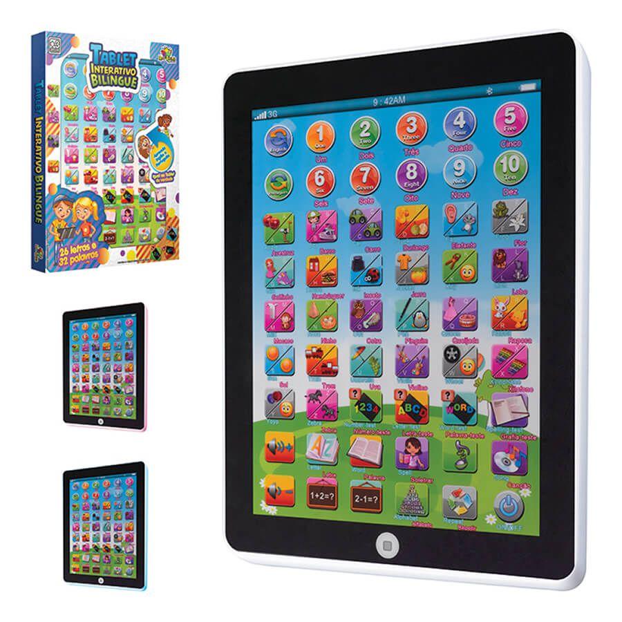 Tablet Interativo Educativo Infantil Bilingue Diversos Jogos