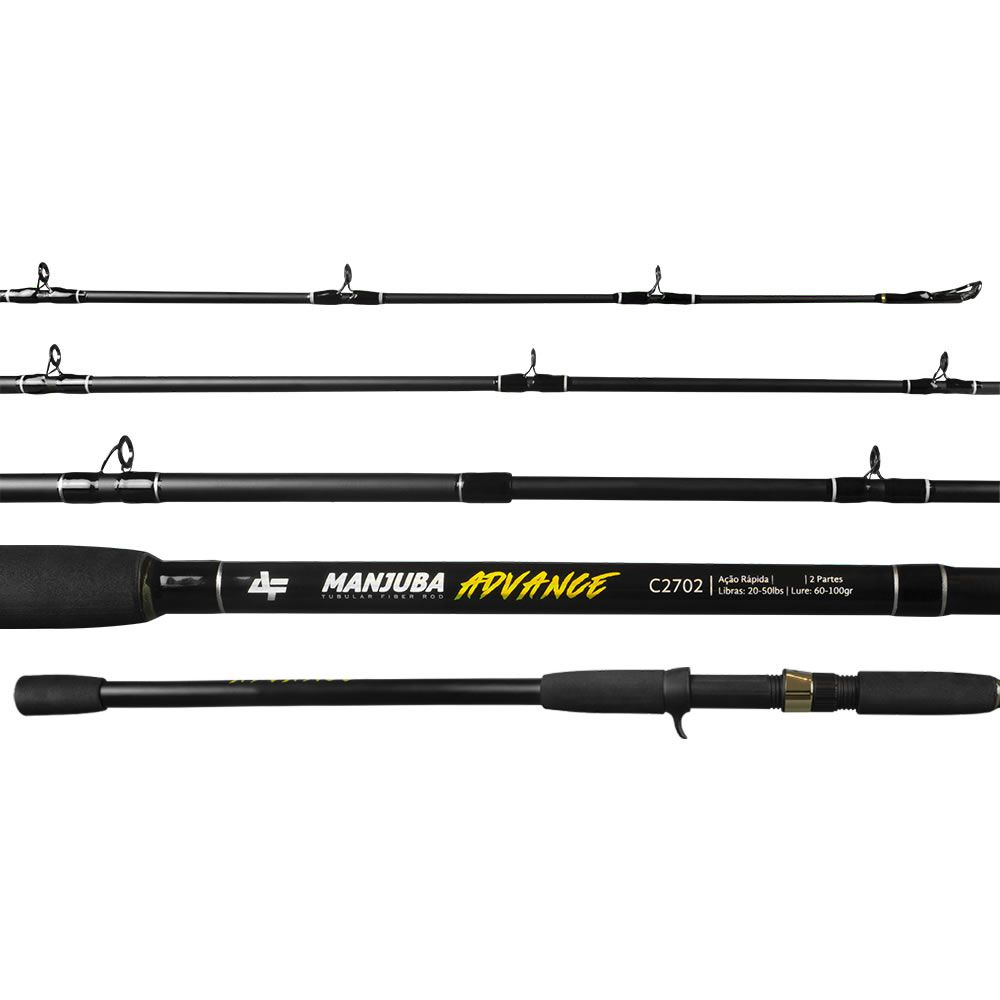 Vara Albatroz Carretilha Manjuba Advance 2.40 m 20-50 lbs