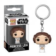 Princesa Leia Chaveiro Funko Pocket Pop Star Wars