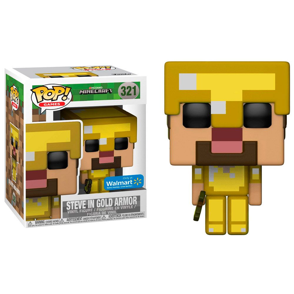 Steve In Gold Armor 321  Funko Pop Minecraft Exclusive