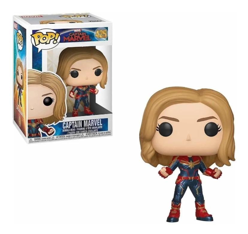 Capitã Marvel Funko Pop 425 - Captain Marvel