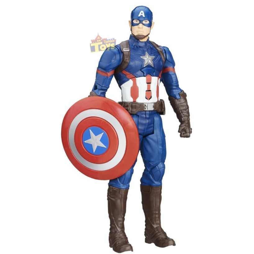 Boneco Eletrônico Titan Capitão América - Hasbro