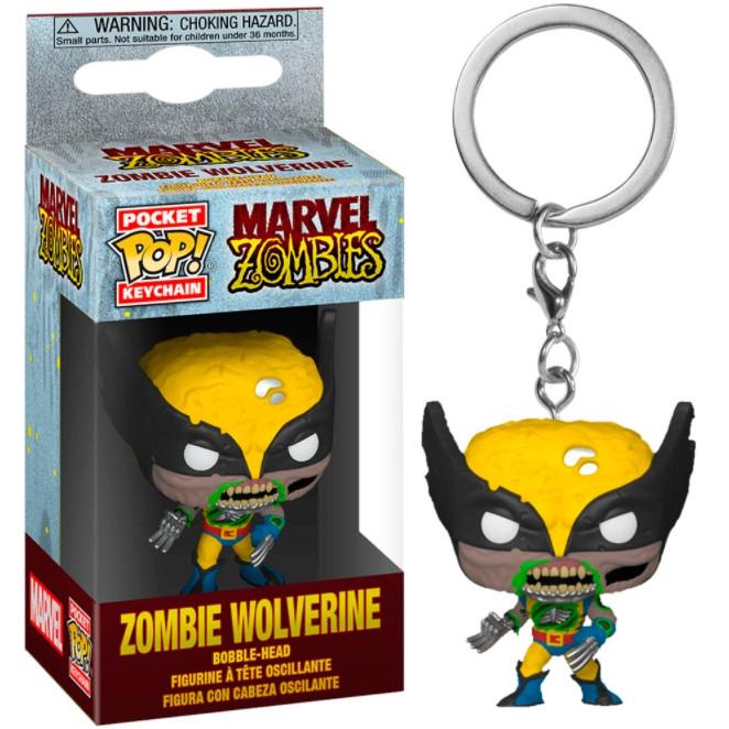 Chaveiro Funko Pocket Pop Keychain Zombie Wolverine - Marvel Zombies