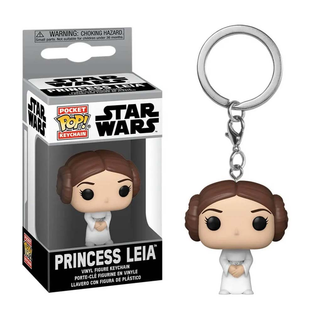 Princesa Leia Chaveiro Funko Pocket Pop Star Wars