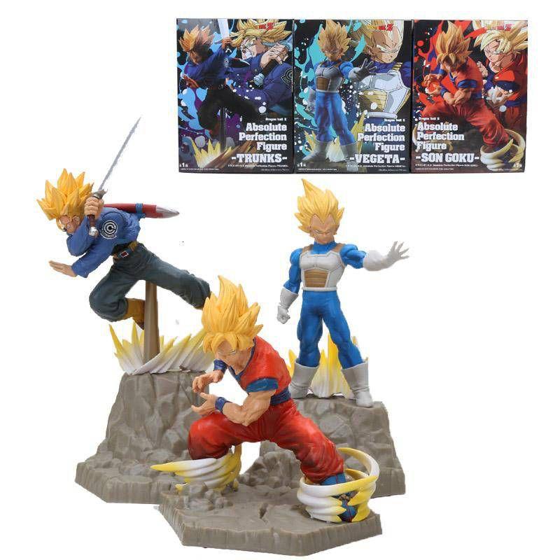 Conjunto Absolute Perfection Figure Trunks Goku e Vegeta - Banpresto