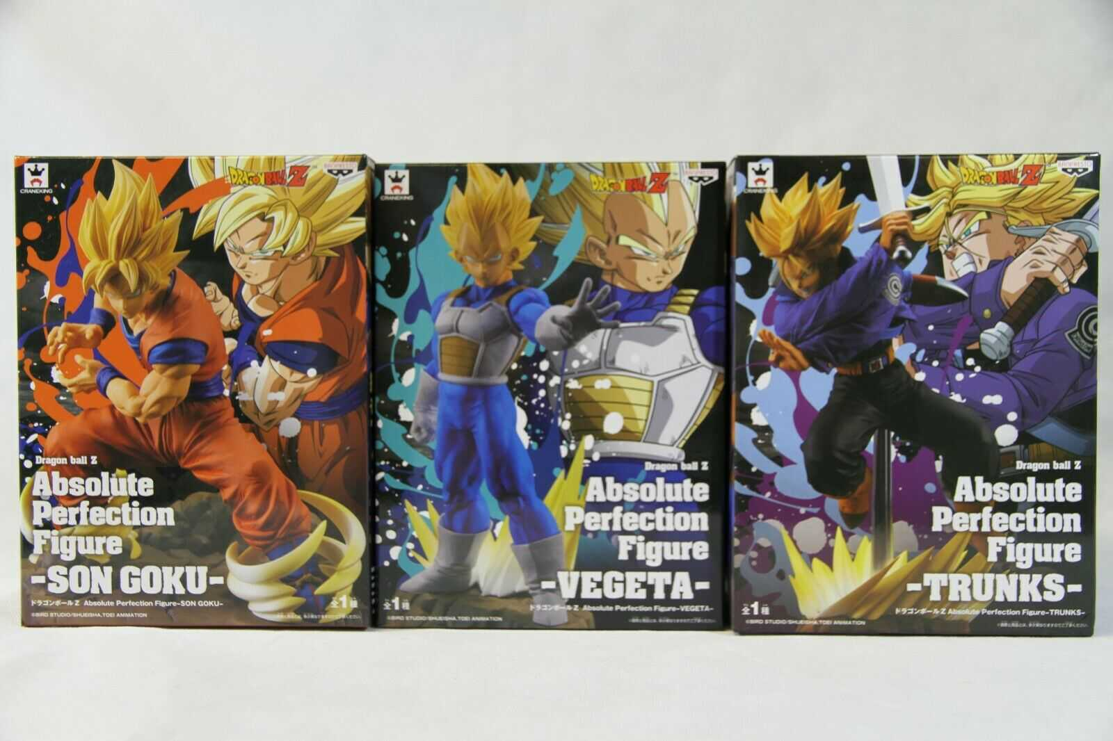 Conjunto Absolute Perfection Figure Trunks Goku e Vegeta - Banpresto
