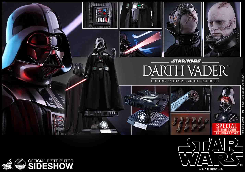 Darth Vader Hot Toys Star Wars QS 013 Escala 1/4