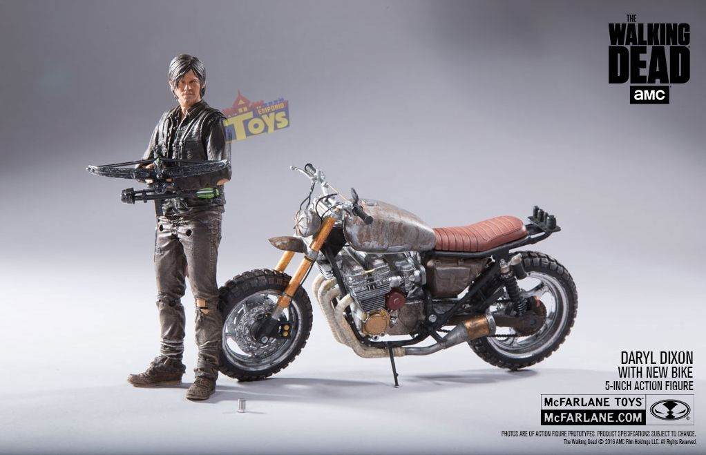 Daryl Dixon The Walking Dead Custom Bike Deluxe - Mcfarlane