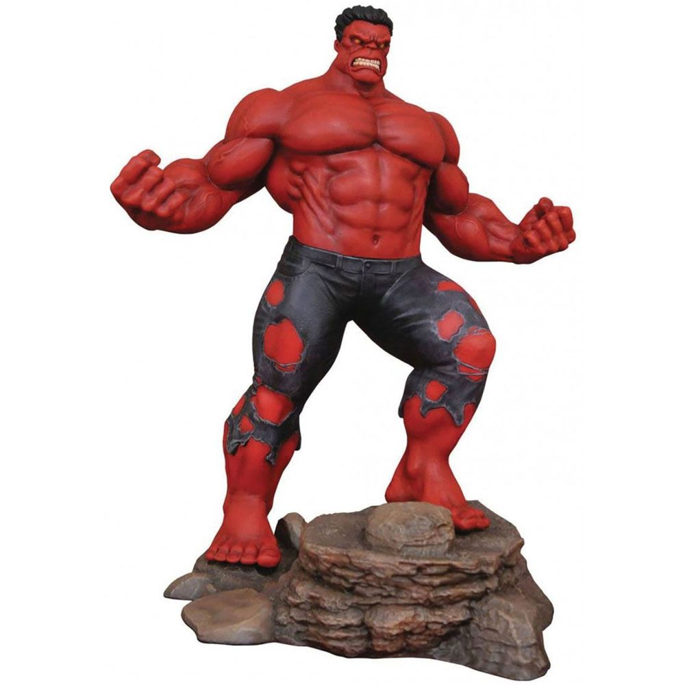 Red Hulk PVC Diorama Diamond Select - Marvel Gallery