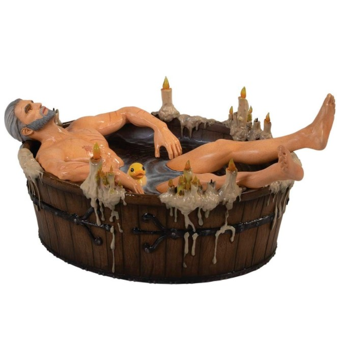 Estátua Geralt In The Bath - The Witcher 3 - Dark Horse