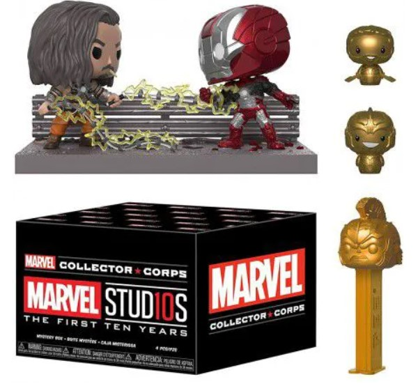 Funko Kit Exclusivo Pop! Funko Collector Corps Marvel: Marvel Studios The First Ten Years