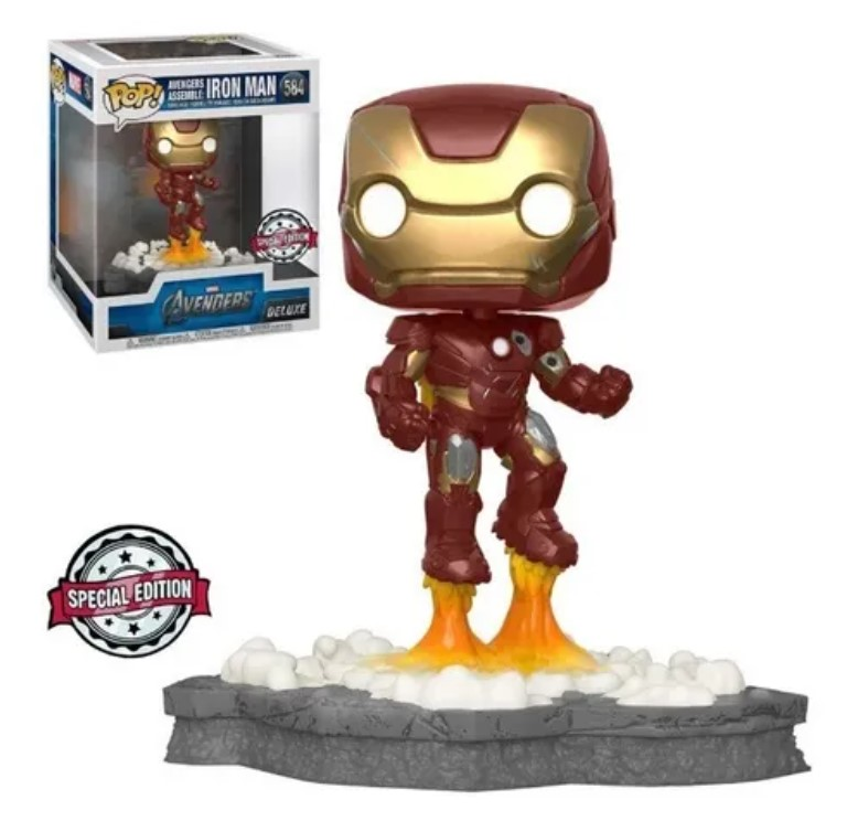 Funko Pop Avengers Assemble: Exlusive Deluxe 6 Iron Man 584