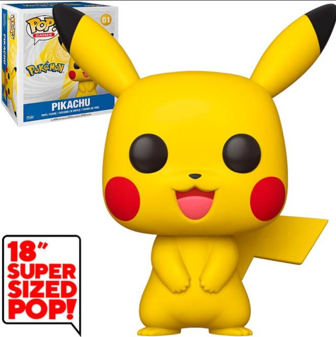 """Pikachu 01 (Super Sized 18"""") - Pokémon - Funko Pop"""