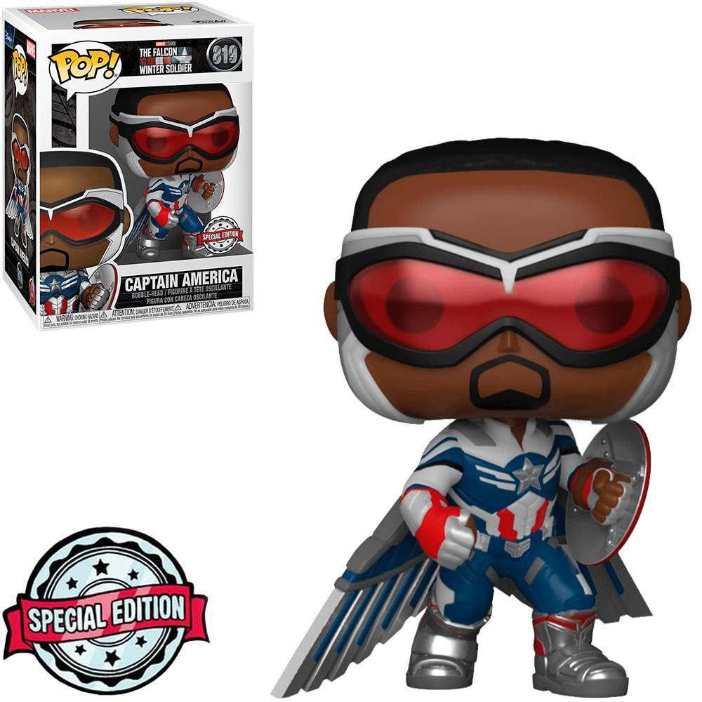 The Falcon Winter Soldier Captain America Funko Pop 819 Marvel