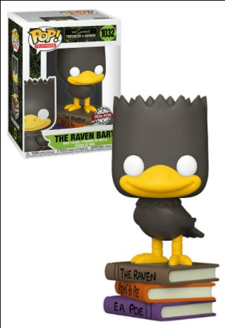 The Raven Bart 1032 - The Simpsons Treehouse Of Horror Exclusive - Funko Pop