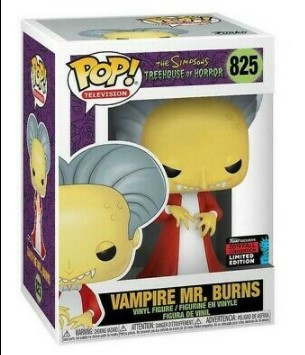 Vampire Mr. Burns 825 - The Simpsons Treehouse Of Horror Exclusive Nycc 2019 - Funko Pop Television