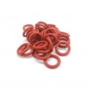 Anel Oring de Silicone Vermelho 13,8x3,5mm