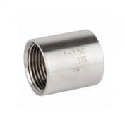 "Luva Aço Inox 304 com Rosca BSP Ø 1/2"""
