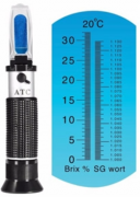 Refratômetro Brix 0-32° e SG 1.000-1.120