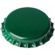 Tampinha - Rolha Metálica Verde Pry-Off 26mm