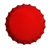 Tampinha Champagne Vermelha 29mm - Pacote 50un