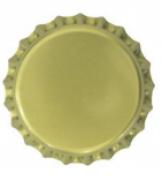 Tampinha - Rolha Metálica Dourada Pry-Off 26mm